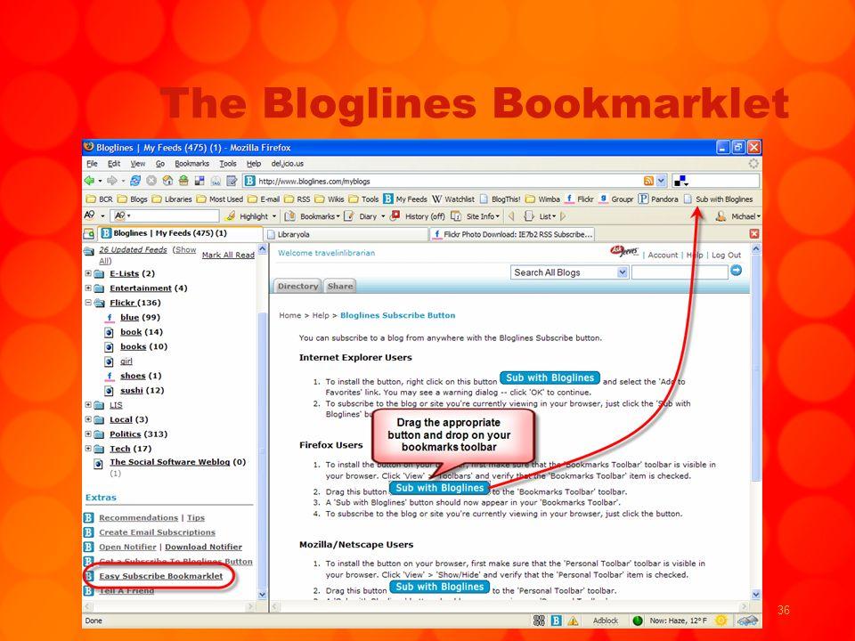 36 The Bloglines Bookmarklet