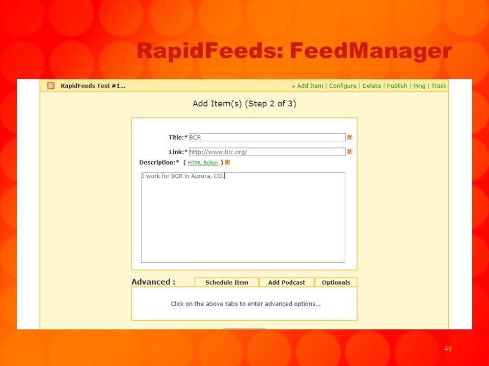 49 RapidFeeds: FeedManager