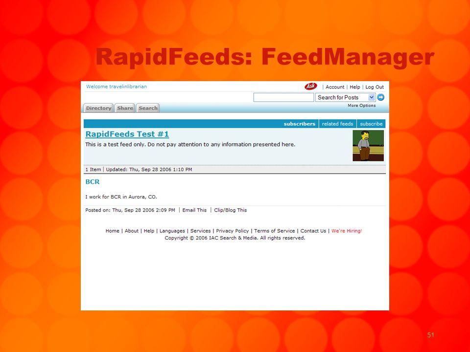 51 RapidFeeds: FeedManager