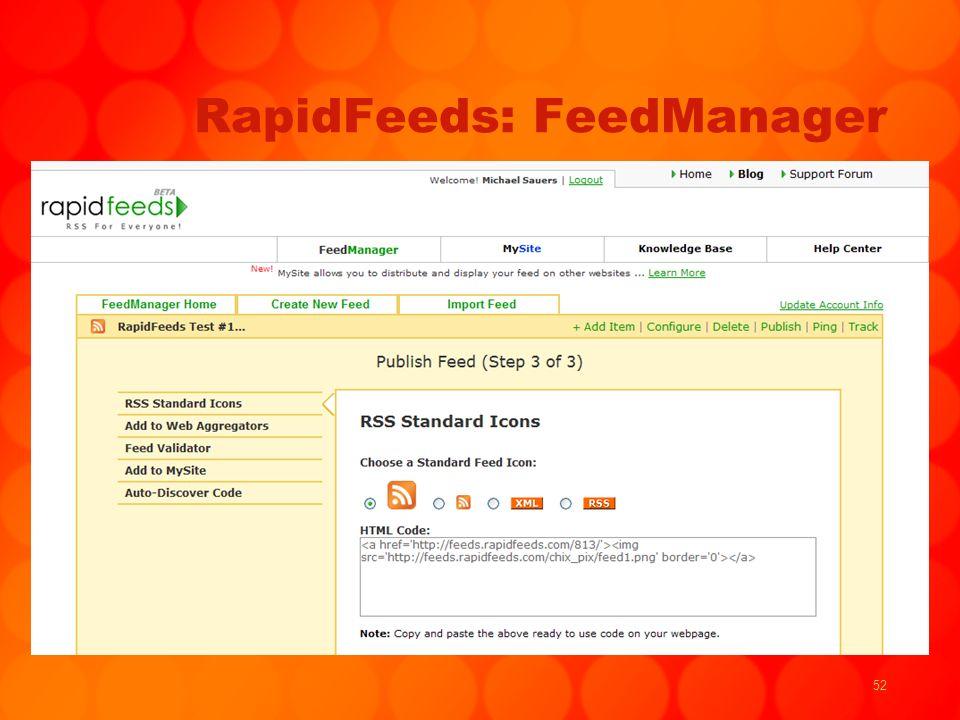 52 RapidFeeds: FeedManager