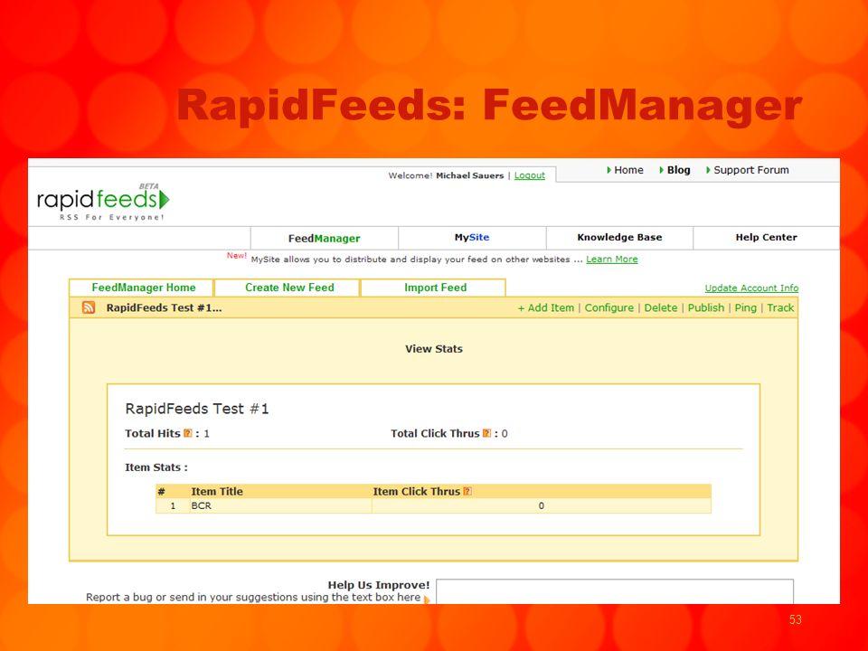 53 RapidFeeds: FeedManager