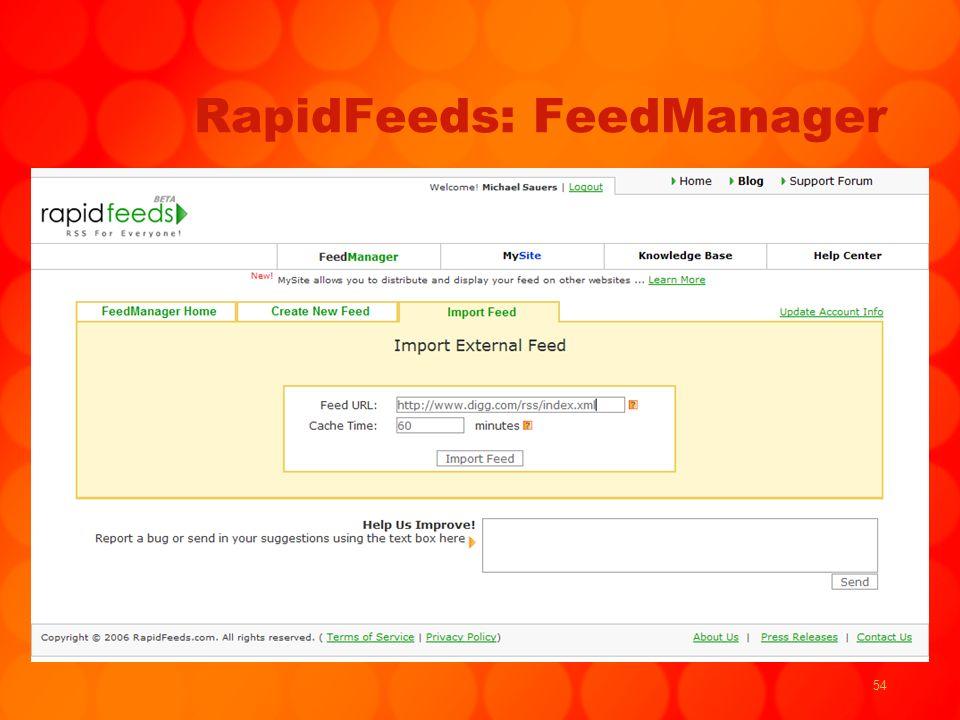 54 RapidFeeds: FeedManager