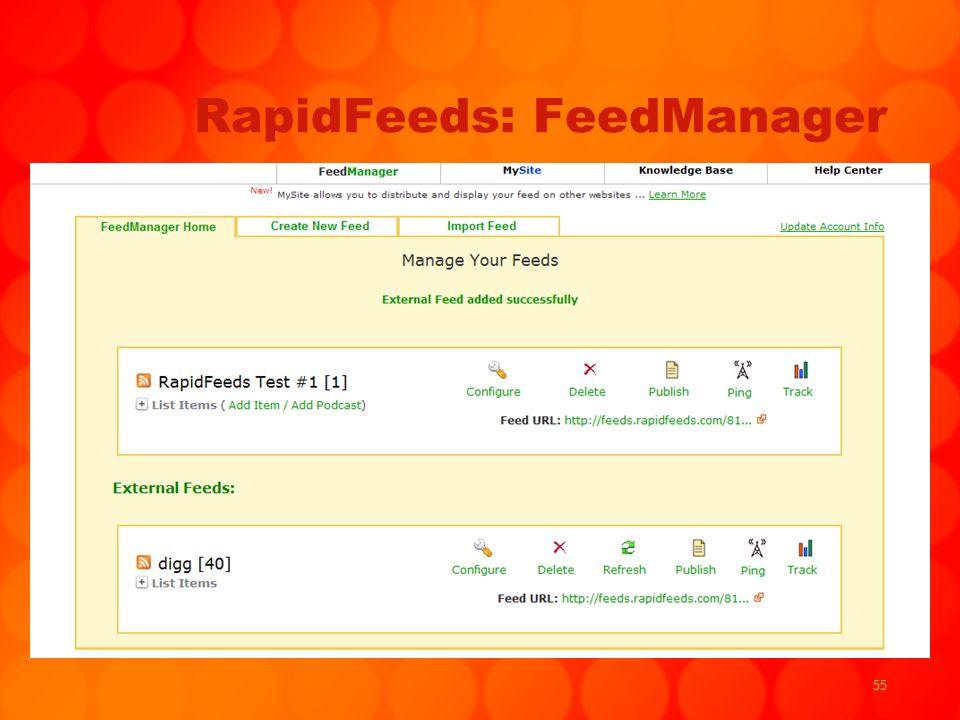 55 RapidFeeds: FeedManager