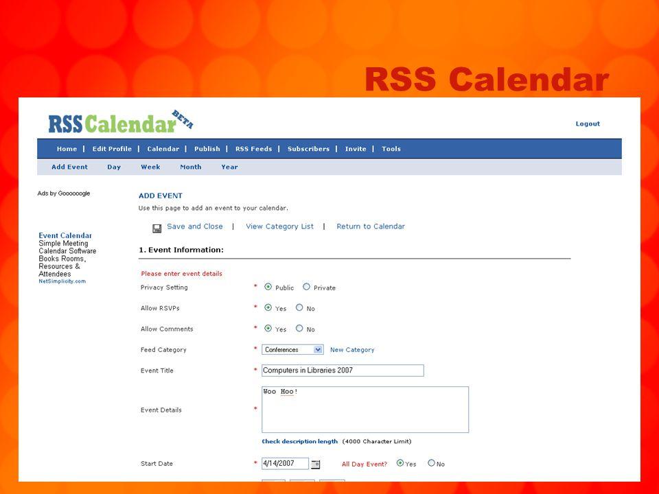79 RSS Calendar