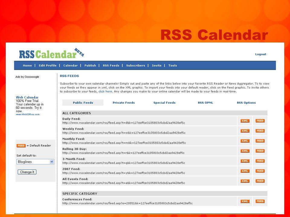 81 RSS Calendar
