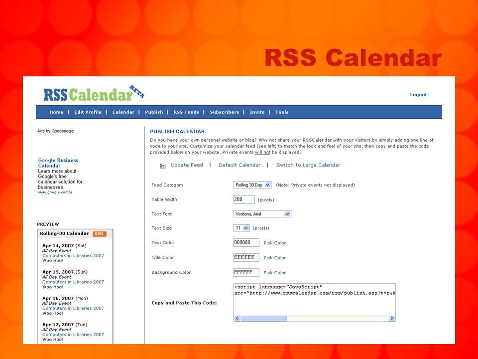 83 RSS Calendar