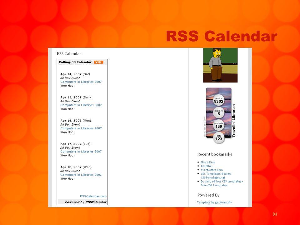 84 RSS Calendar