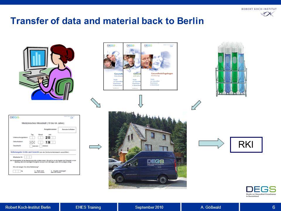 6 EHES TrainingRobert Koch-Institut BerlinSeptember 2010 A.