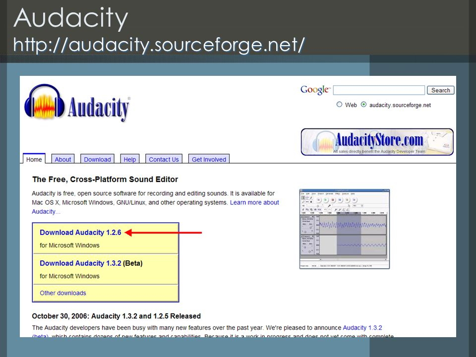 http://audacity.sourceforge.net/ Audacity http://audacity.sourceforge.net/