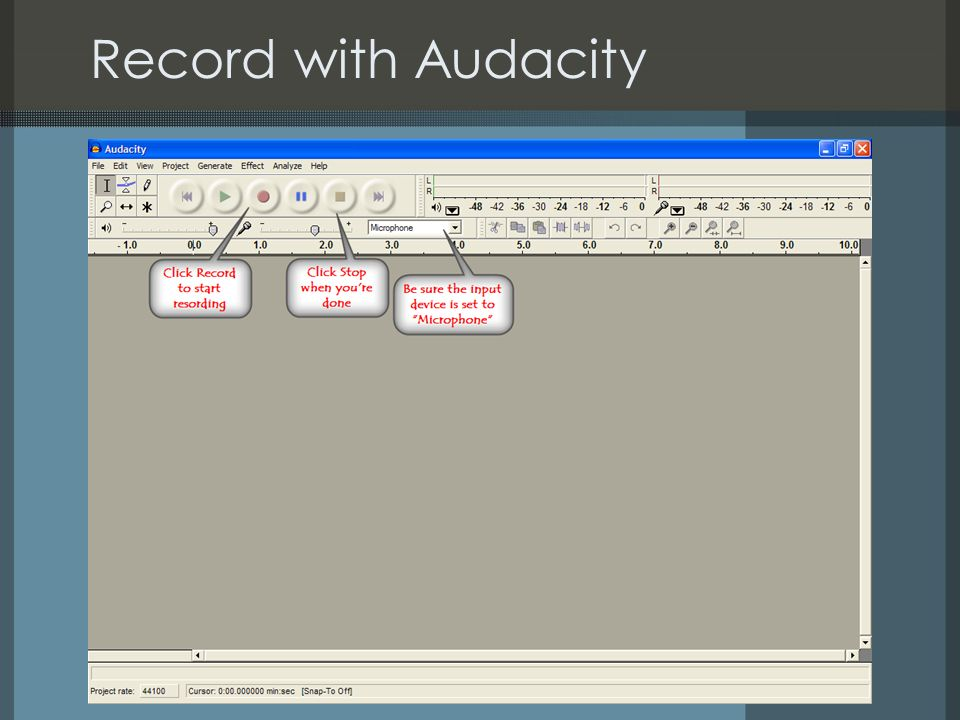 Record with Audacity