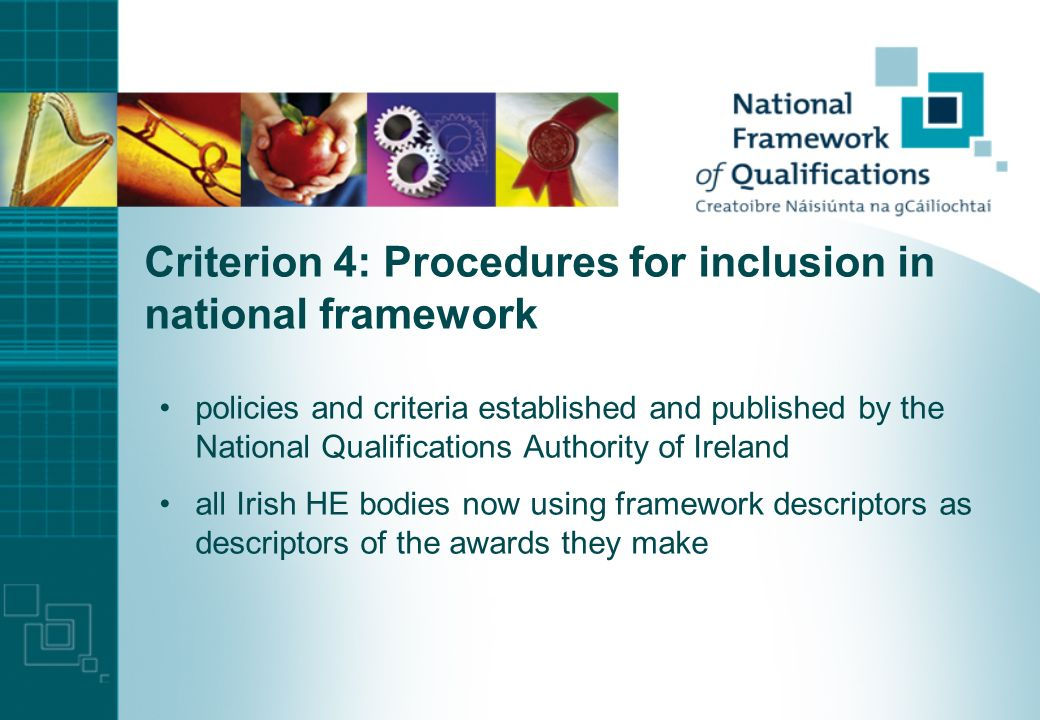 Criterion 3: Learning outcomes and ECTS links learning outcomes required by the Qualifications Act national descriptors expressed in terms of learning