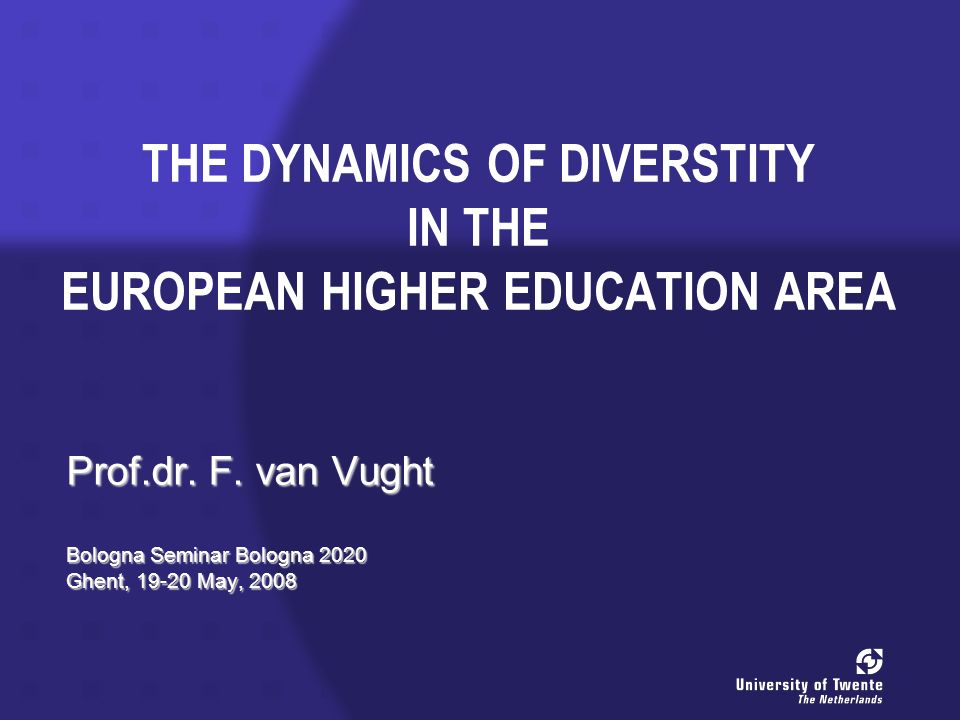 Overview Diversity and differentiation: -in the history of European higher education; -in the European Higher Education Area (EHEA).Diversity and differentiation: -in the history of European higher education; -in the European Higher Education Area (EHEA).
