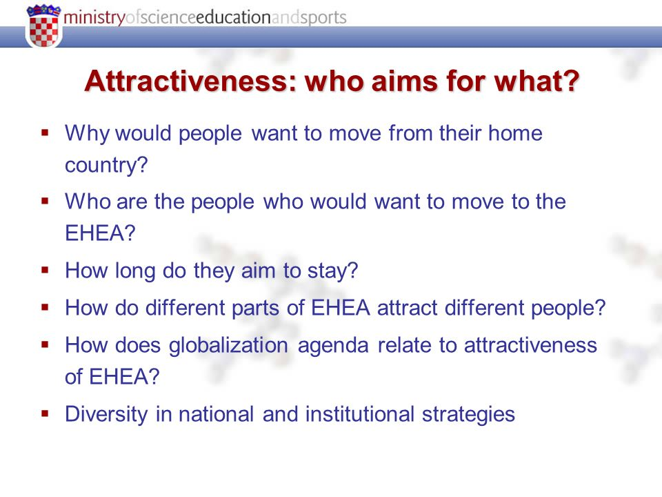 Attractiveness: who aims for what. Why would people want to move from their home country.