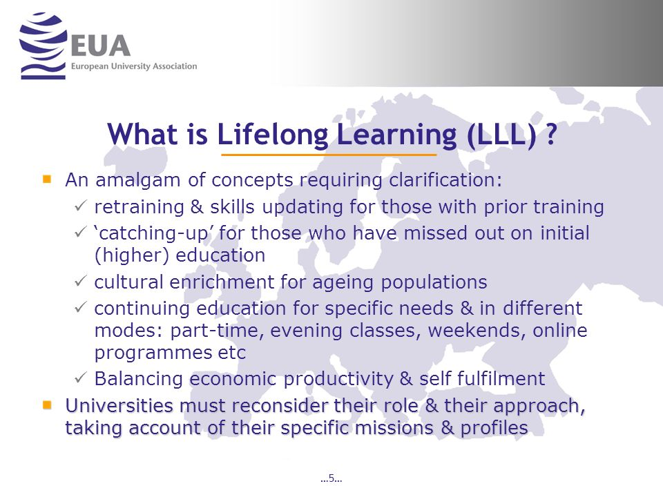 …5… What is Lifelong Learning (LLL) .