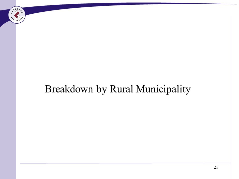 23 Breakdown by Rural Municipality