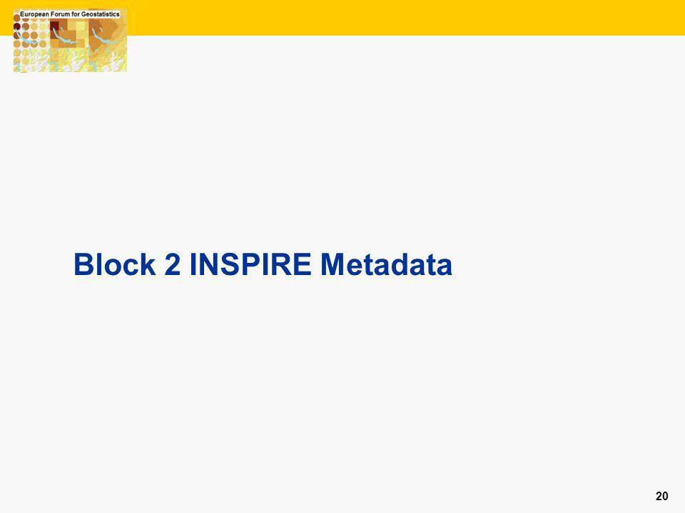 20 Block 2 INSPIRE Metadata