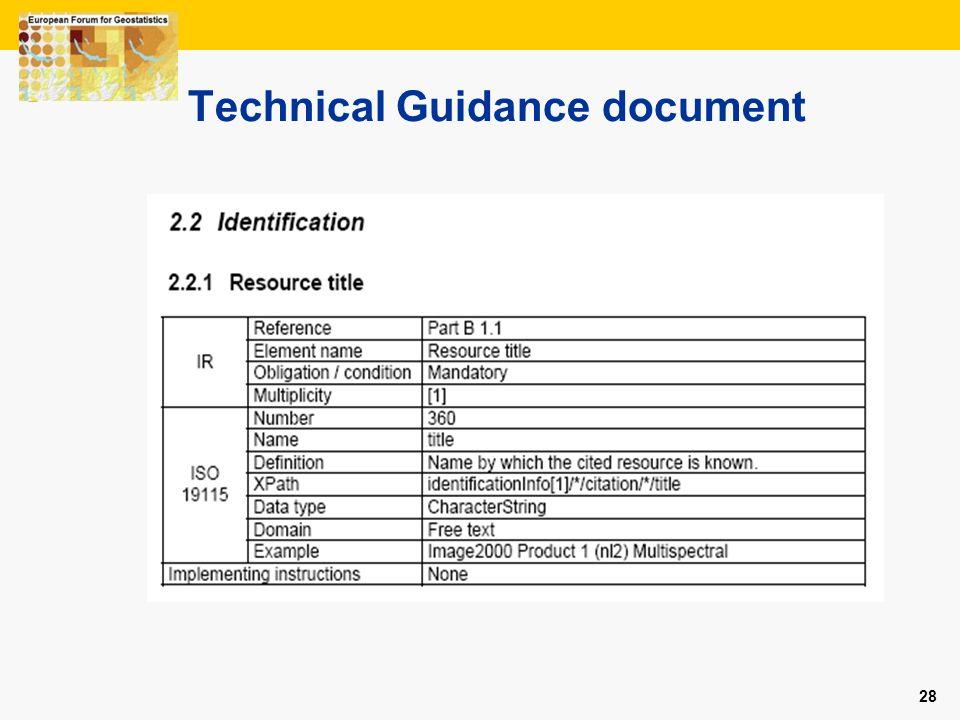 28 Technical Guidance document