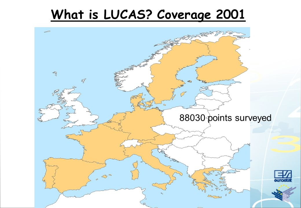 What is LUCAS? Coverage 2001 88030 points surveyed