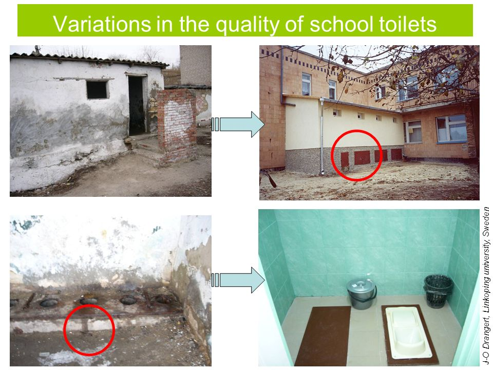 Variations in the quality of school toilets J-O Drangert, Linkoping university, Sweden