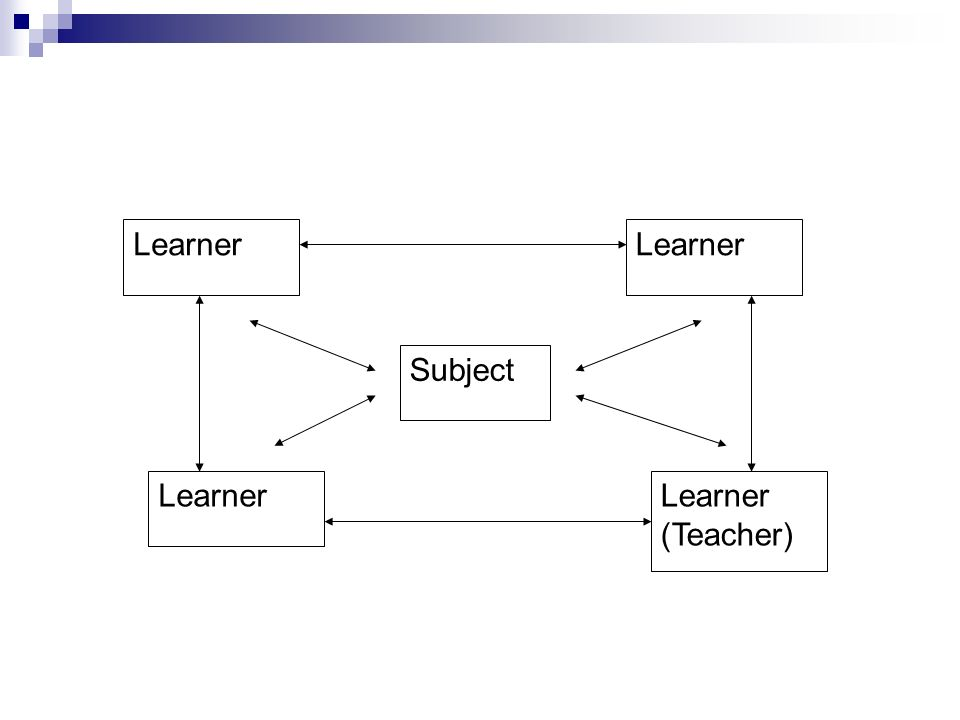 Subject Learner (Teacher)