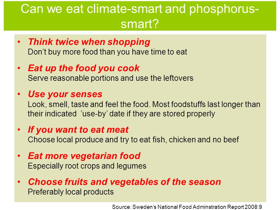 Can we eat climate-smart and phosphorus- smart.