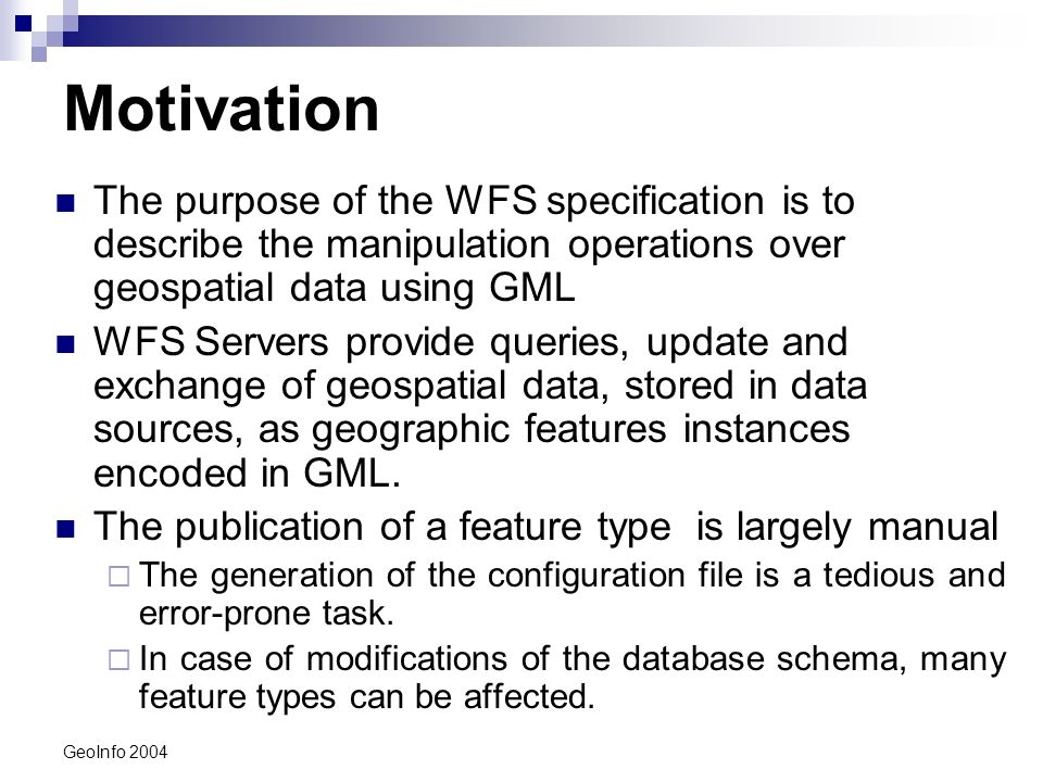 GeoInfo 2004 MappingTables (DataStoreConfiguration File)...