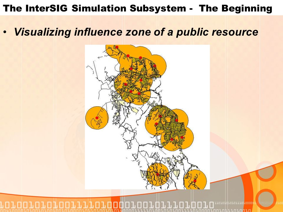 The InterSIG Simulation Subsystem - The Beginning Visualizing influence zone of a public resource