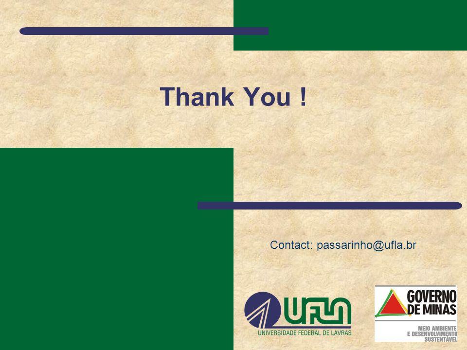 Thank You ! Contact: passarinho@ufla.br