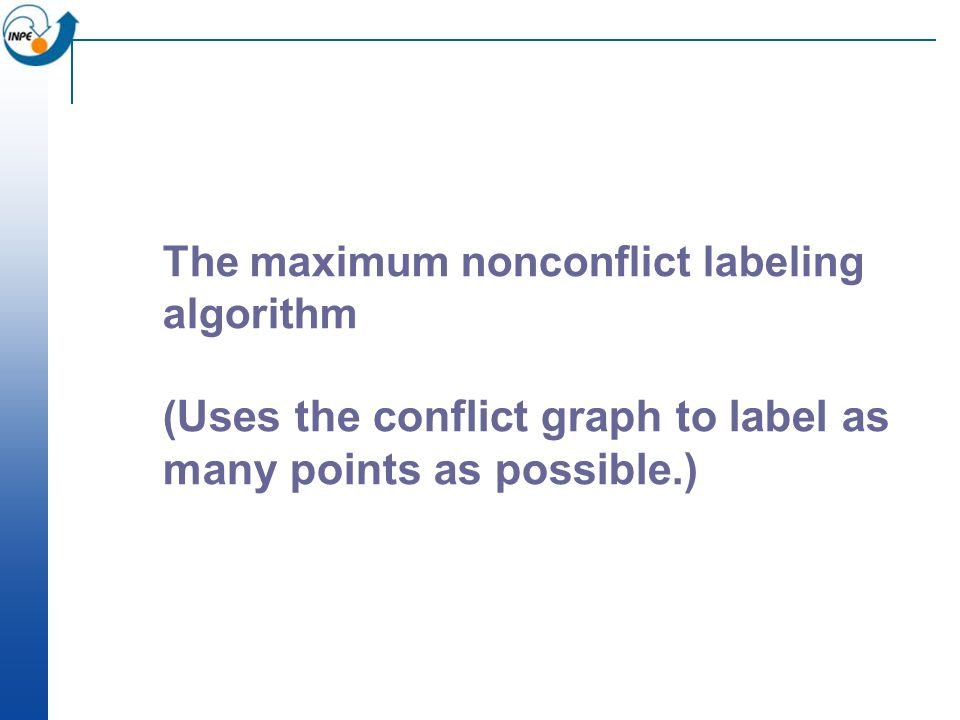 The maximum nonconflict labeling algorithm ( Uses the conflict graph to label as many points as possible.)