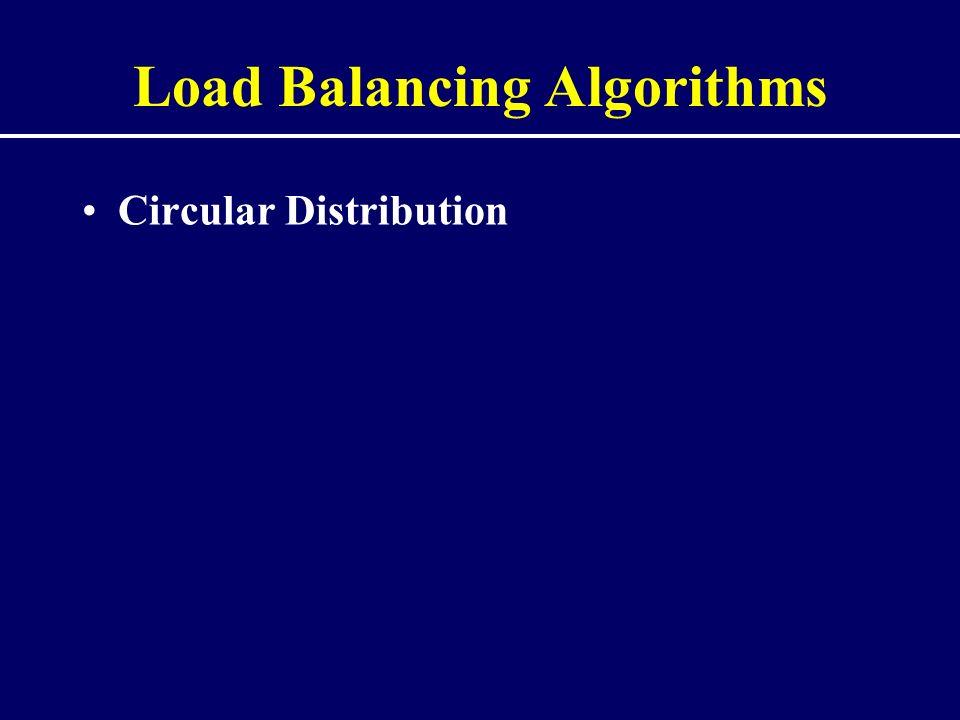 Load Balancing Algorithms Circular Distribution