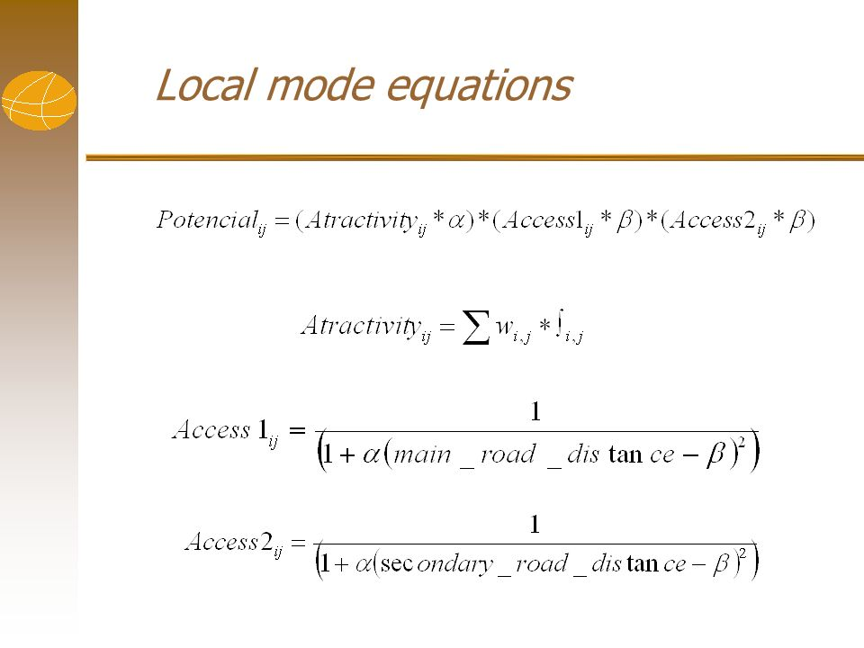 Local mode equations
