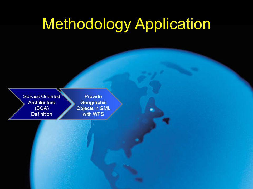 Methodology Application Service Oriented Architecture (SOA) Definition Provide Geographic Objects in GML with WFS