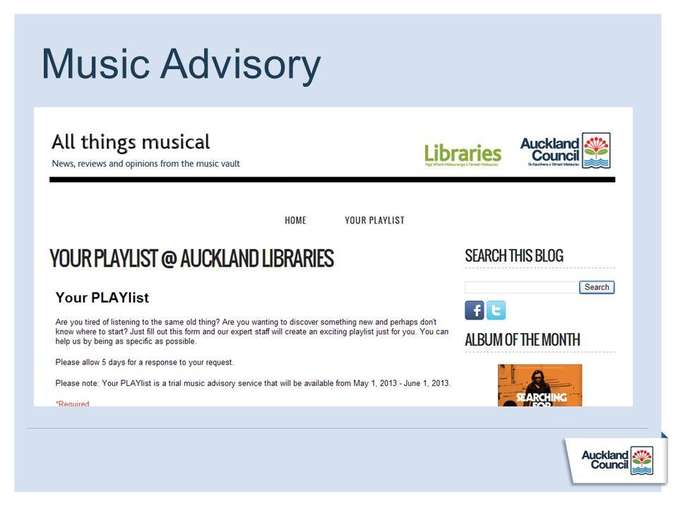 Music Advisory