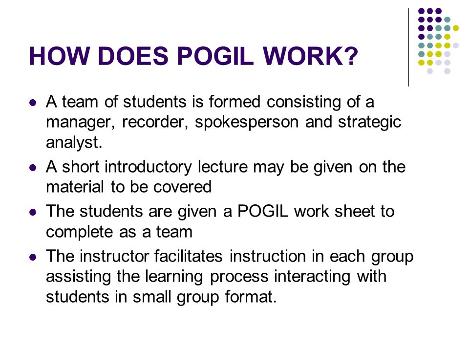 HOW DOES POGIL WORK.