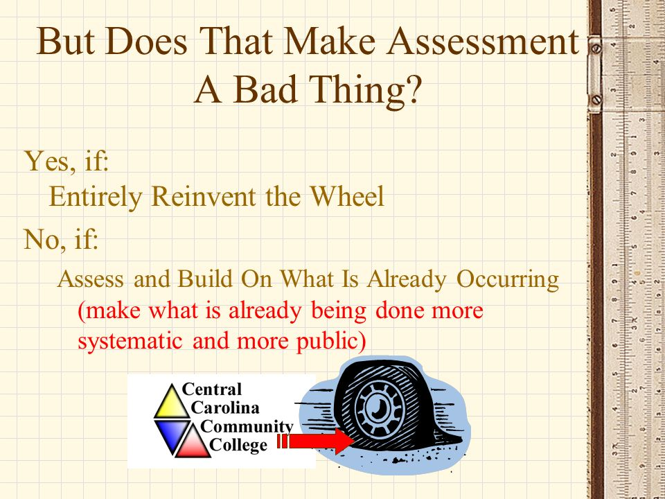 Backward Design Identify desired outcomes –What do we want students to learn.