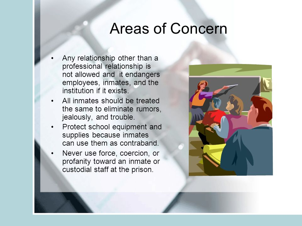 Areas of Concern for Correctional Educators