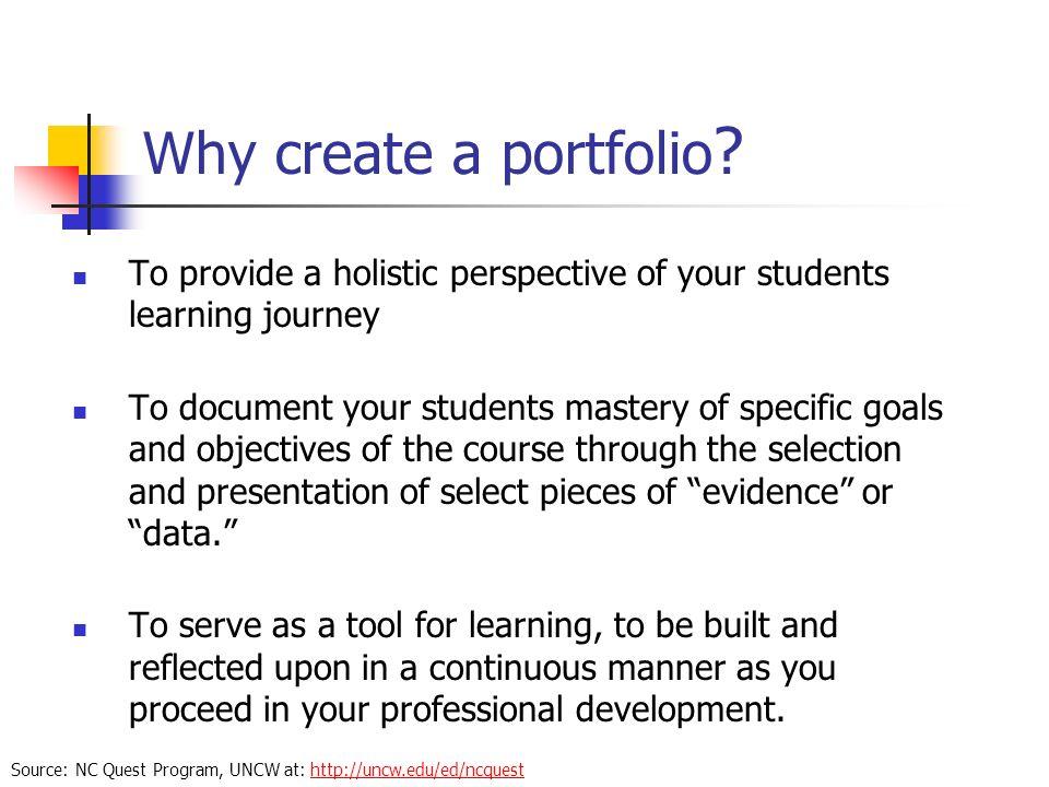 Why create a portfolio .
