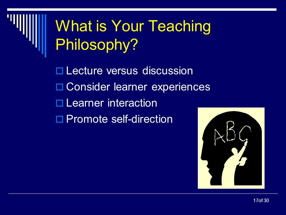 17of 30 What is Your Teaching Philosophy.