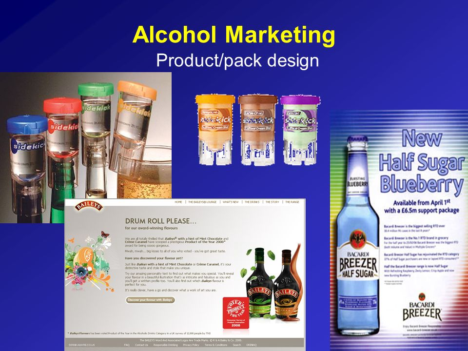 Alcohol Marketing Product/pack design