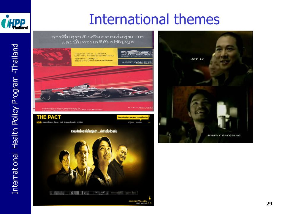 International Health Policy Program -Thailand 29 International themes