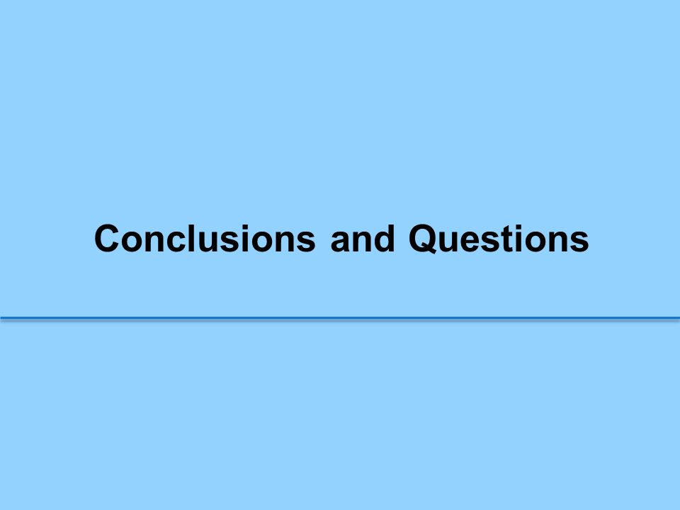 Conclusions and Questions