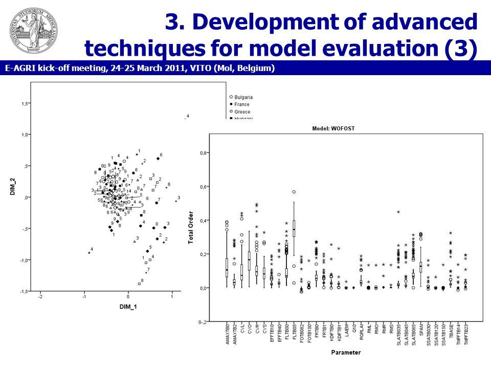3. Development of advanced techniques for model evaluation (3) E-AGRI kick-off meeting, 24-25 March 2011, VITO (Mol, Belgium)
