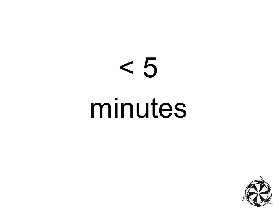 < 5 minutes