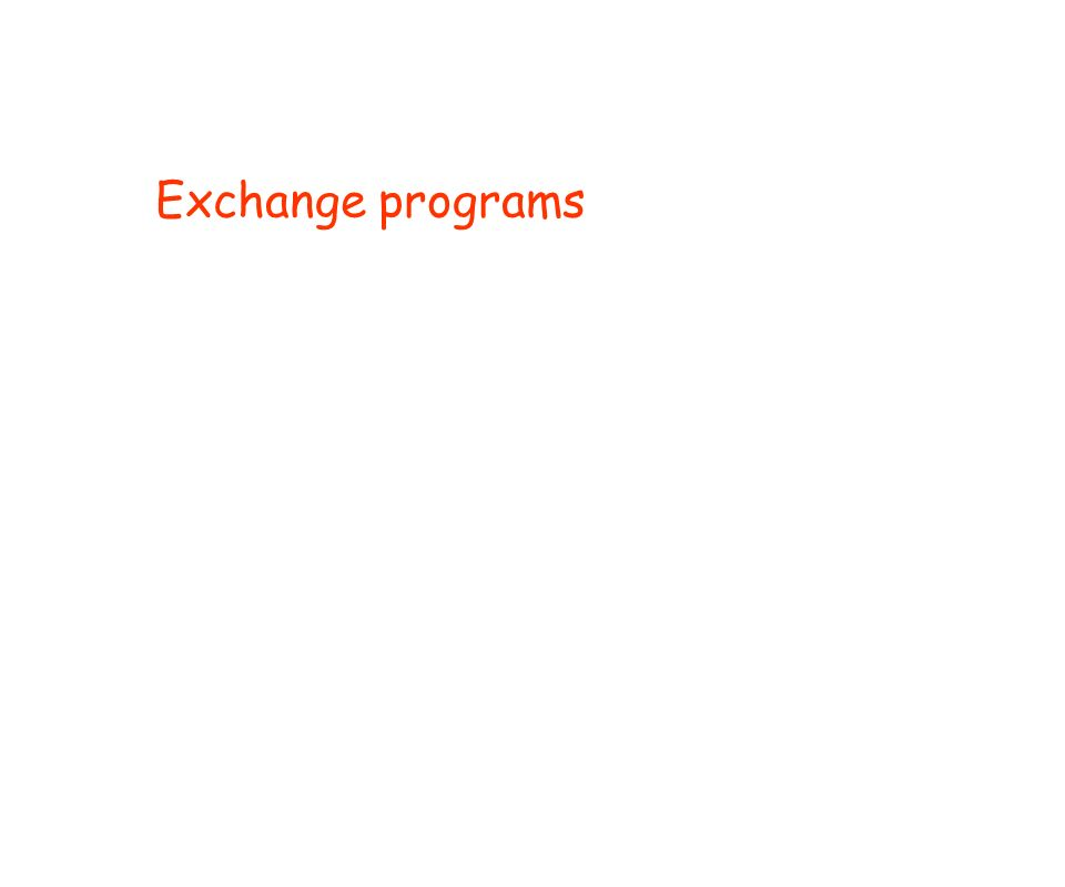 Exchange programs
