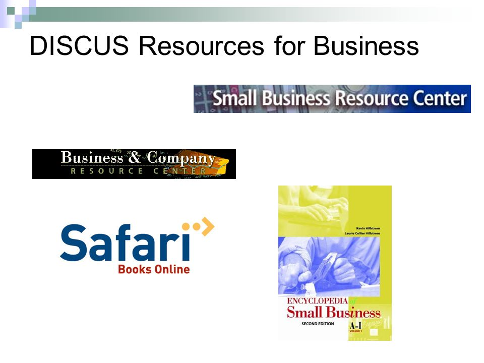 DISCUS Resources for Business