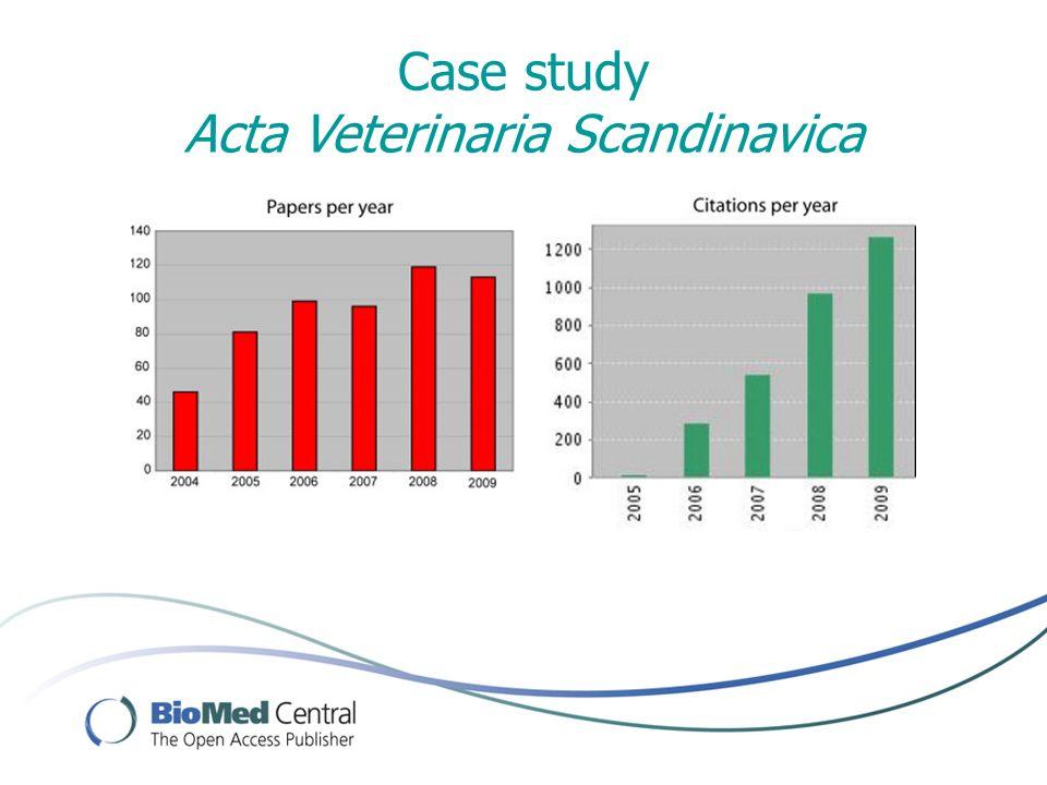 Case study Acta Veterinaria Scandinavica