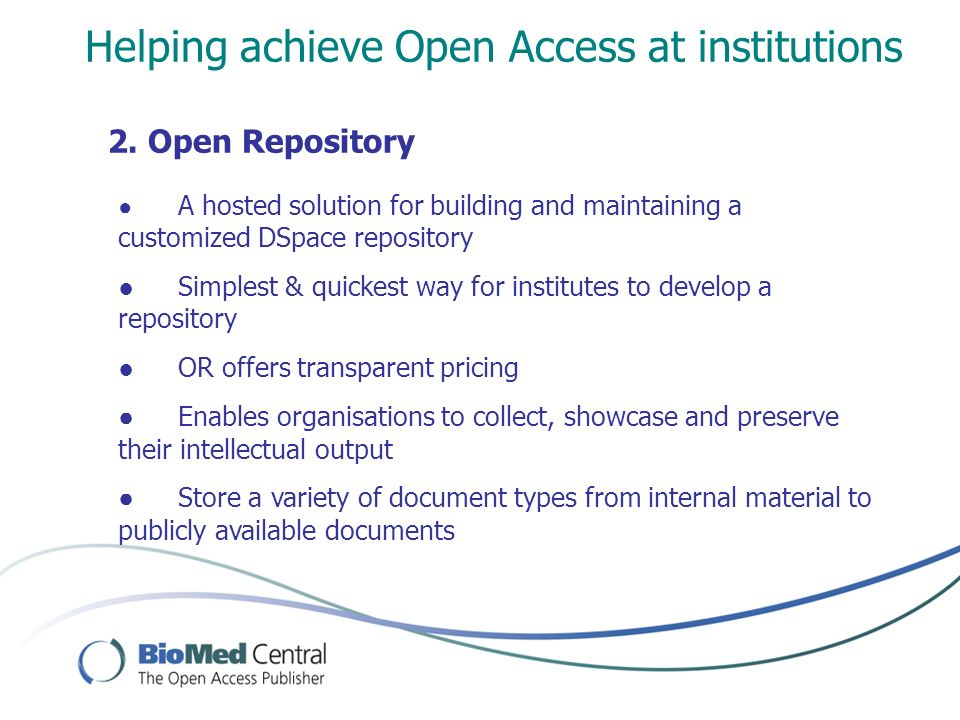 Helping achieve Open Access at institutions 2.