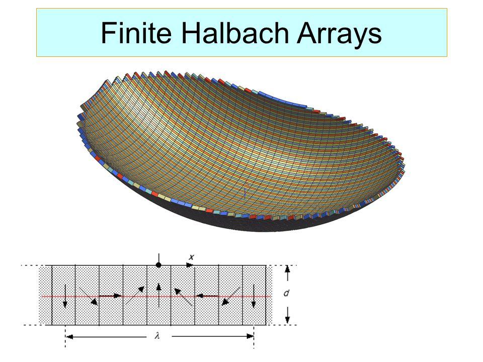 Finite Halbach Arrays
