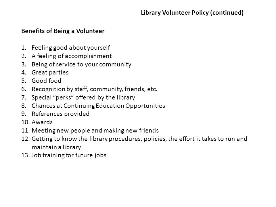 Application for Volunteer Service - North Liberty Community Library The Library offers a variety of volunteer opportunities.