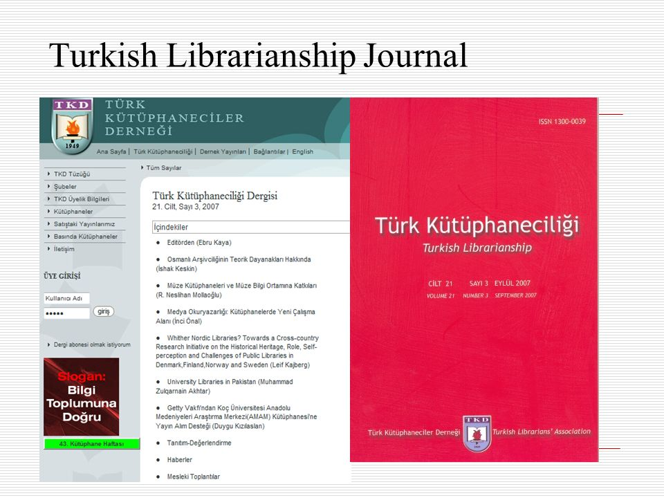 Turkish Librarianship Journal